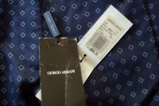 NWT GIORGIO ARMANI Ladies 100% Silk Pants Navy Geometric Italy 50 US 14 $850