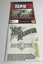 Red Dead Redemption 2 New Hanover & Adjacent States Double Sided Map - Poster