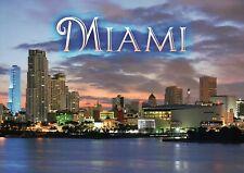 American Airlines Arena NBA Miami Heat Basketball, Skyline Twilight Postcard