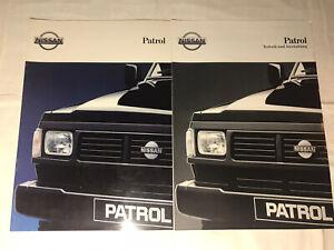 Prospekt Reklame Werbung Nissan Patrol Auto Alt Geschenk Broschüre Heft Rarität