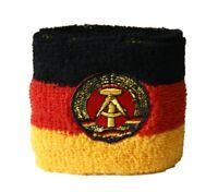 Schweißband Fahne Flagge Deutschland DDR 2er Set - 7x8cm Armband für Sport