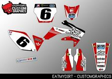 TO FIT HONDA CRF 250 2005-2007 CUSTOM GRAPHICS KIT NUMBERS MX STICKERS MOTOCROSS