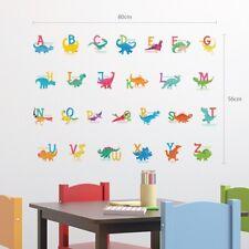 Decowall DS-8033 A-Z Dinosaur Alphabet Nursery Kids Removable Wall Stickers