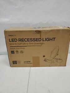 TORCHSTAR Basic Series 12-Pack 12W Recessed Lights 6 Inch with Junction Box L240