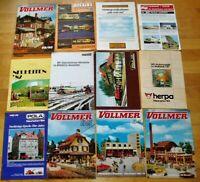 26x Modellbahn Kataloge Prospekte Neuheiten 80er 90er Reklame Werbung Sammlung
