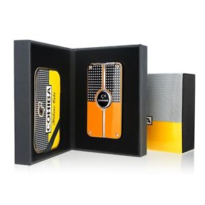 COHIBA Cigarette Lighter Torch 3 Jet Flame Refillable Windproof Lighter Smoking
