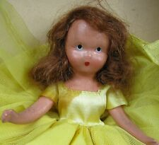 Vintage 1930's Composition Doll 6� Tall A Sweet October Maiden Rather Shy 196 In