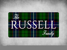 WP_CLAN_340 The RUSSELL Family (Russell Modern Tartan) - Metal Wall Plate