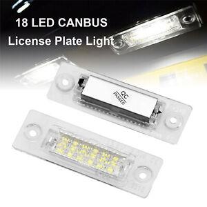 2x 18 LED License Number Plate Holder Light For VW Touran, Caddy, Golf,Jetta