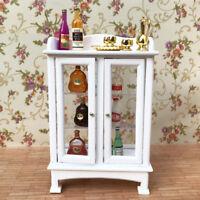 1:12 Dollhouse Miniature Furniture Cake Wine Display Cupboard Cabinet Shelf Case