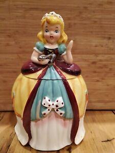 Vintage NAPCO  1957  Cinderella Cookie Jar  K2292 Storybook Canister