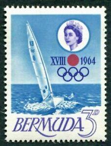 BERMUDA 1964 SG183 3d. OLYMPIC GAMES, TOKYO  -  MNH