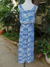 INDIA BOUTIQUE One Size Full Length Maxi Dress Elastic Waist Zip Front