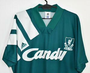 LIVERPOOL old authentic away ADIDAS Candy shirt trikot jersey maglia 1991-92 L