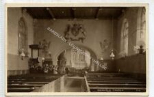 (Le5014-477) RP  Coxwold Church Interior, Old Lamps  Unused G-VG