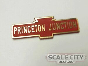 PREFINISHED PRR Pennsylvania Larger Station Sign CUSTOMIZED ANY NAME O Scale