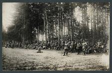 Foto R.I.R. 229 Ostfront Przasnysz Feldküche Waldlichtung Narew-Offensive 1915