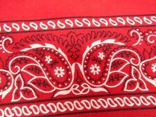 Vintage Antique ALL COTTON FAST COLOR RED USA BIKER BANDANA HANDKERCHIEF 20X22