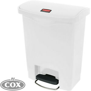 Rubbermaid Slim Jim Resin Kitchen Front Step-On 50 Litre No Touch Rubbish Bin