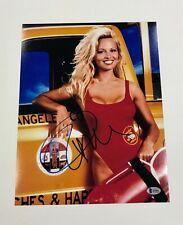 BAS Baywatch Signed 8 x 10 photograph of Pamela Anderson Model Beckett Pamela Denise Anderson Actress