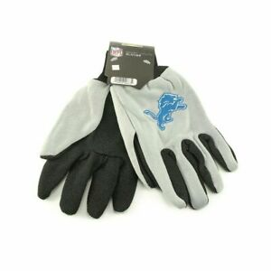 FOCO NFL Detroit Lions Embroidered Utility Gloves Pair One Size Fits Most