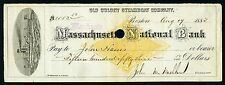 Rn-G1 Revenue Stamped Paper Ma National Bank with Super Vignette of a Steamboat