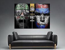 UFC Conor Mcgregor Vs Nate Diaz  Wall Art Poster Grand format A0 Large Print 05