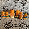 Vintage Teddy Bear Squeak Toys Bride Groom Cubs Sleepy Mom Dad Golden Yellow Lot