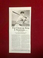 """1937, Lou Gehrig, """"GILLETTE"""" Ad (Scarce / Vintage) Yankees"""