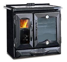 """Stufa cucina a legna NORDICA """"Suprema"""" 8,5 kW colore nero antracite"""