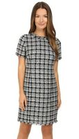 Kate Spade New York 241366 Womens Tweed Sheath Dress Black/Grey Multi Size 12