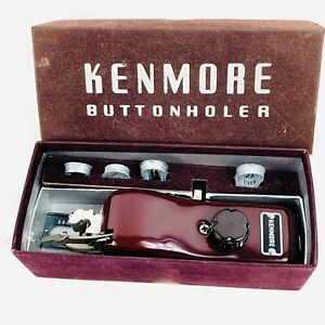 Vintage Kenmore Buttonhole Sewing Attachment Excellent SEARS Roebuck Buttonholer