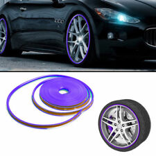 8M Car Wheel Hub Rim Protector Ring Sticker Tire Guard Line Rubber Strip Purple