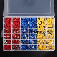 480tlg. Kabelschuhe Quetschverbinder Steckverbinder Sortiment Box Flachstecker