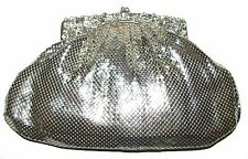 WHITING & DAVIS Silver Mesh Handbag Purse Clutch
