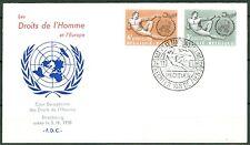 Belgien 1291-1292 Tag der Menschenrechte 1962 als FDC