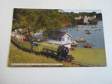 Vintage Colour Postcard Miniature Railway+Boating Pool Scarborough S0293 Unused