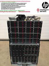 HP C7000 G2 4x HP BL620c G7 8x BL460c G7 1TB RAM 31.2TB 4Gbit SAN Solution