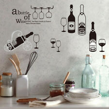 Wine Bottle Wall Stickers Cupboard Wardrobe Decal Bar Window Art DecorEP