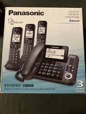 Panasonic Kx-Tgf383M Link2Cell 3-Handset Corded/Cordless Phone System New