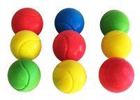 E-Deals Soft Sponge Tennis Balls - Pack of 9 - Assorted Colours Outdoor Indoor