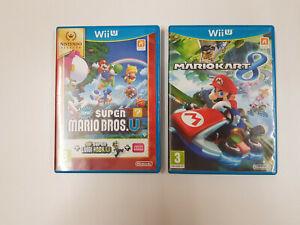 Lot 2 Jeux Nintendo Wii u - Mario Kart 8 et New Super Mario Bros.u + Super Luigi