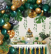 Green Balloons Jungle Safari Tropical Wild One 1st First Theme Birthday Baby NEW