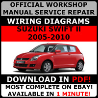 # OFFICIAL WORKSHOP Repair MANUAL for SUZUKI SWIFT II 2005-2010 #