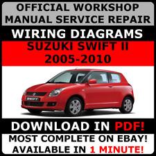 # official workshop repair manual for suzuki swift ii 2005-2010 # | ebay