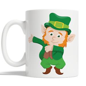 Flossing Leprechaun Mug For St Patricks Day Coffee Cup Gift Idea Funny Kid JA63