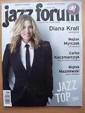 DIANA KRALL on front cover Polish Magazine JAZZ FORUM 1-2/2015