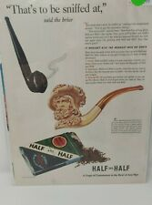 Vintage Magazine Ad Advertisement 1941 Half And Half Tobacco Pipe Briar Queen
