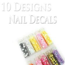 10x Bling Nail Art decals assorted shape FREE NAIL GLUE