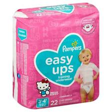 Pampers Easy Ups Disposable Potty Training Pants Girls Diapers 3T-4T 22 Count